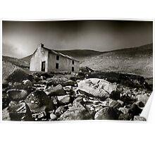 Abandoned Cottage, Achill Island, Ireland Poster