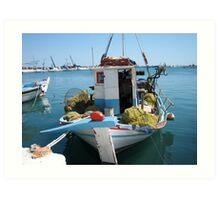 boat , samos - greece Art Print