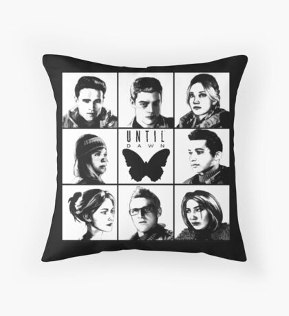 Until dawn - main characters Throw Pillow