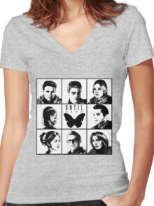 Until dawn - main characters Women's Fitted V-Neck T-Shirt