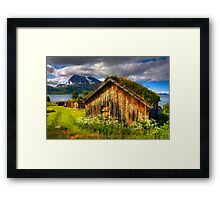 Traditional Houses at Hella, Kvaloy. Tromso, North Norway. Framed Print