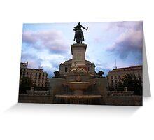 Plaza de Oriente Greeting Card