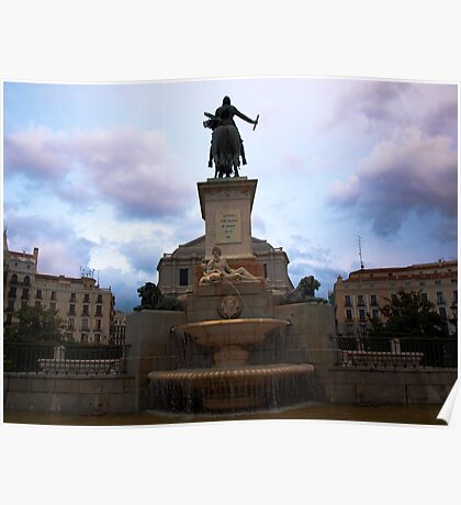 Plaza de Oriente Poster