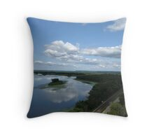 Mississipi Valley Throw Pillow