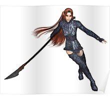 Female Elf Dragon Warrior - 2 Poster