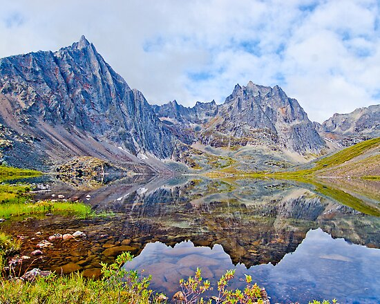 Tombstone Mountains and Grizzly Lake by Yukondick
