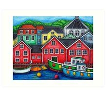 Colours of Lunenburg, Nova Scotia Art Print