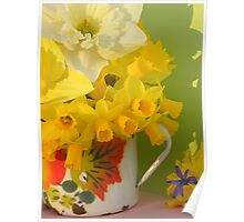A Cup Of Golden Daffodils Poster