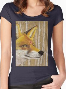 Mr Fox Women's Fitted Scoop T-Shirt