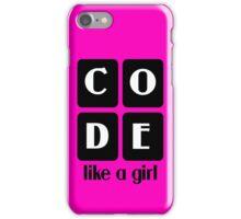 Code like a girl hooded pullovers geek funny nerd iPhone Case/Skin