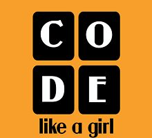 Code like a girl hooded pullovers geek funny nerd Unisex T-Shirt