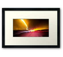 Light Show To Guayaquil Framed Print