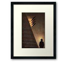 Men and machines Framed Print