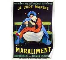 Leonetto Cappiello A nursemaid holding a senile man in her lap and feeding Wellcome L0023028 Poster