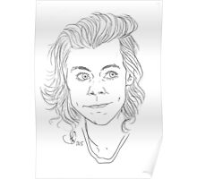 Customisable Harry Styles Line Art Poster