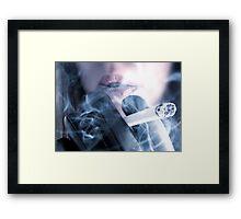 Fetish Smoker Framed Print