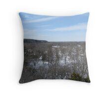 Illinois River Valley Throw Pillow