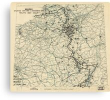 World War II Twelfth Army Group Situation Map December 3 1944 Canvas Print