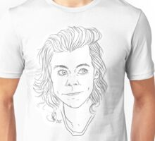 Customisable Harry Styles Line Art Unisex T-Shirt