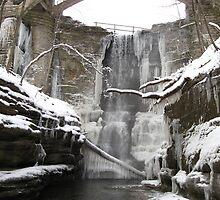 Icefall under Bridge  by Gu88dek