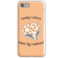 Peachy Kickers Wear Big Knickers! iPhone Case/Skin