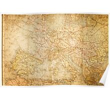 Ancient world map. Poster