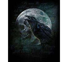 Moon raven skull Photographic Print