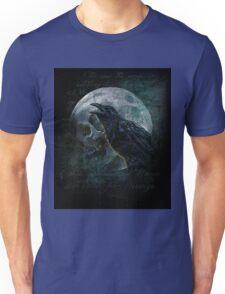 Moon raven skull Unisex T-Shirt