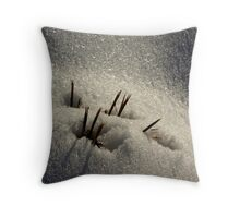 golden flakes Throw Pillow