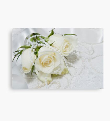 Wedding romance. Canvas Print
