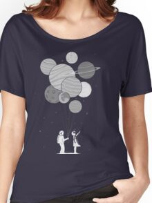 Between planets and balloons. Women's Relaxed Fit T-Shirt