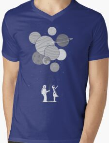 Between planets and balloons. Mens V-Neck T-Shirt
