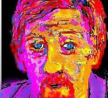Fauve Self Portrait by Richard  Tuvey