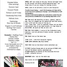 Newsletter for Hunter/Newcastle Dragonsabreast Group for March 2011. by KazM