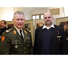 Me and Lithuanian Armed Forces Commander Photographic Print