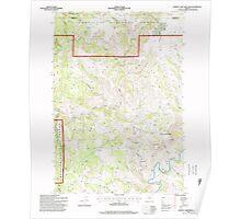 USGS Topo Map Oregon Johnny Cake Mountain 280333 1995 24000 Poster