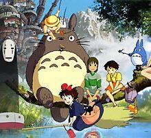 Studio Ghibli Family by Optimistic  Sammich