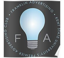 Franklin Advertising Logo (On Grey) Poster