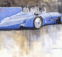 Bluebird world land speed record car 1931 by Yuriy Shevchuk