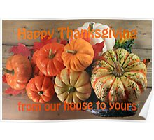 Thanksgiving Pumpkins and squashes Fall arrangement Poster