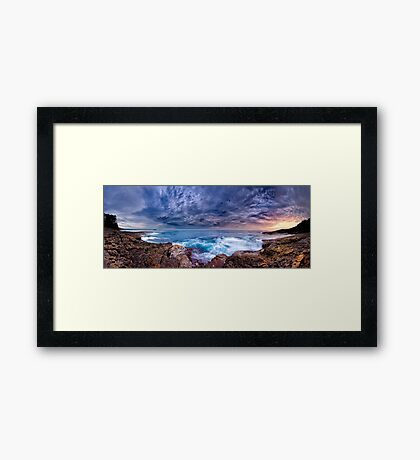 Dawn Spectrum (Borderless) - Sunrise @ Bannister Point, Mollymook Framed Print