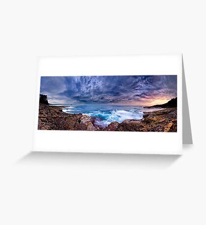 Dawn Spectrum (Borderless) - Sunrise @ Bannister Point, Mollymook Greeting Card