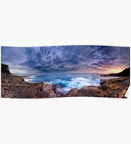 Dawn Spectrum (Borderless) - Sunrise @ Bannister Point, Mollymook Poster
