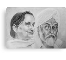 Sikh Couple No.2 Canvas Print