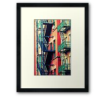 Red Window Framed Print