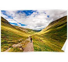 Helvellyn Trail (Borderless) Poster