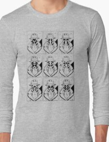 The many faces of Rorschach Long Sleeve T-Shirt