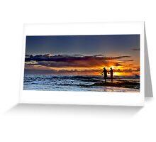 Fishing For The Sun (Borderless) Greeting Card