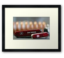 Swiss Army Knives Framed Print