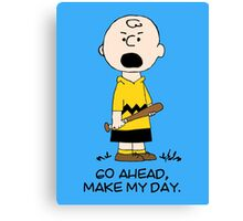 Charlie Make my day Canvas Print